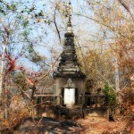 A very old stupa, a few meters away from the temple ruins.