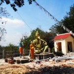 There is also some stone statues inside the premises, including that of Ganesha.