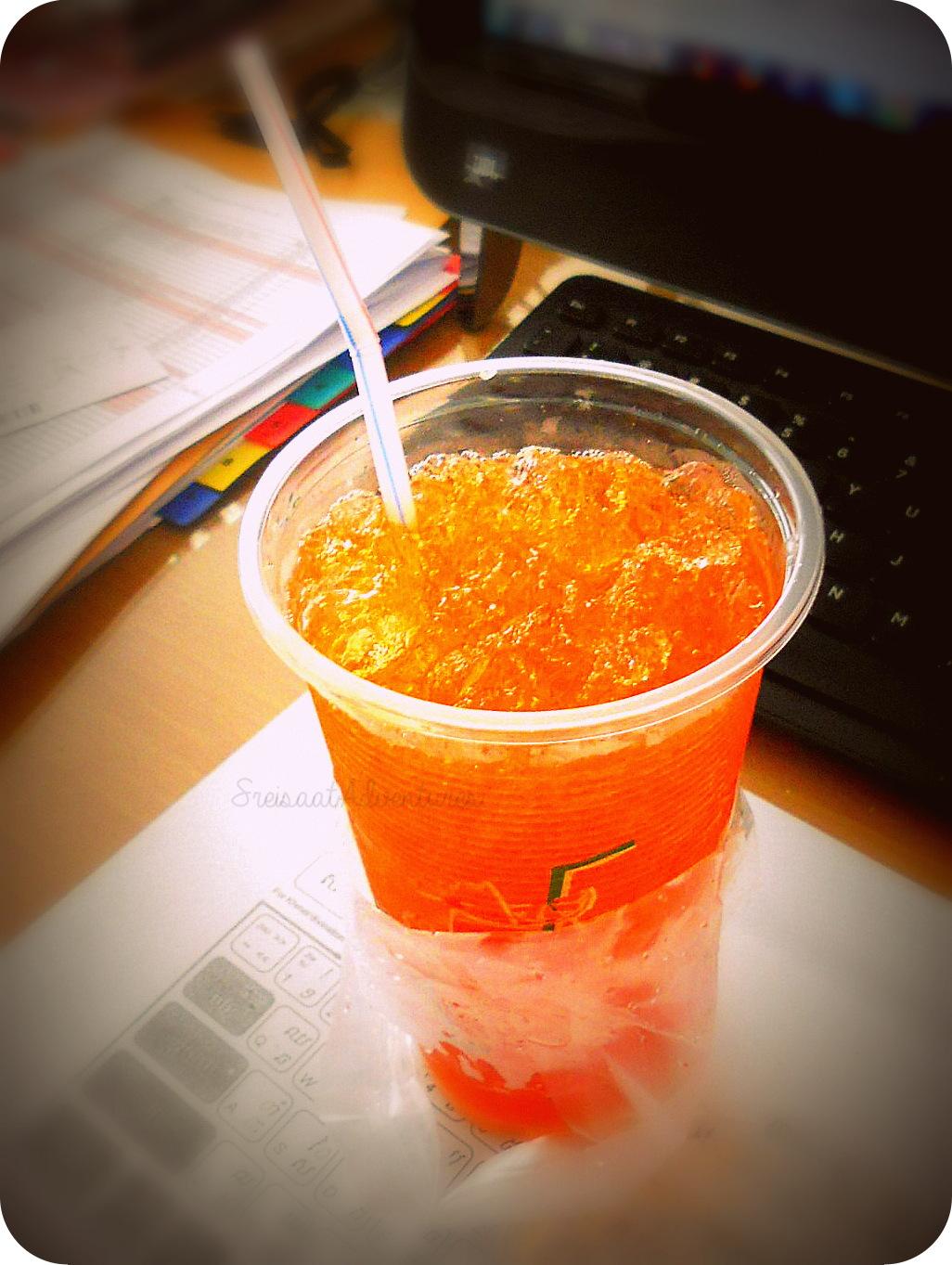 Khmer iced tea with lemon-and-lime.