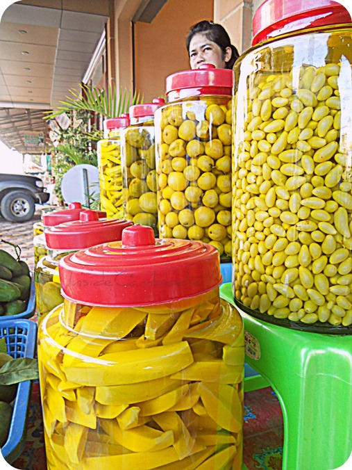 Tropical fruits preserved fruits in Cambodia