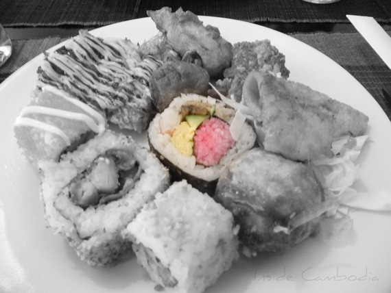 Sushi rolls at Hanami Buffet Restaurant