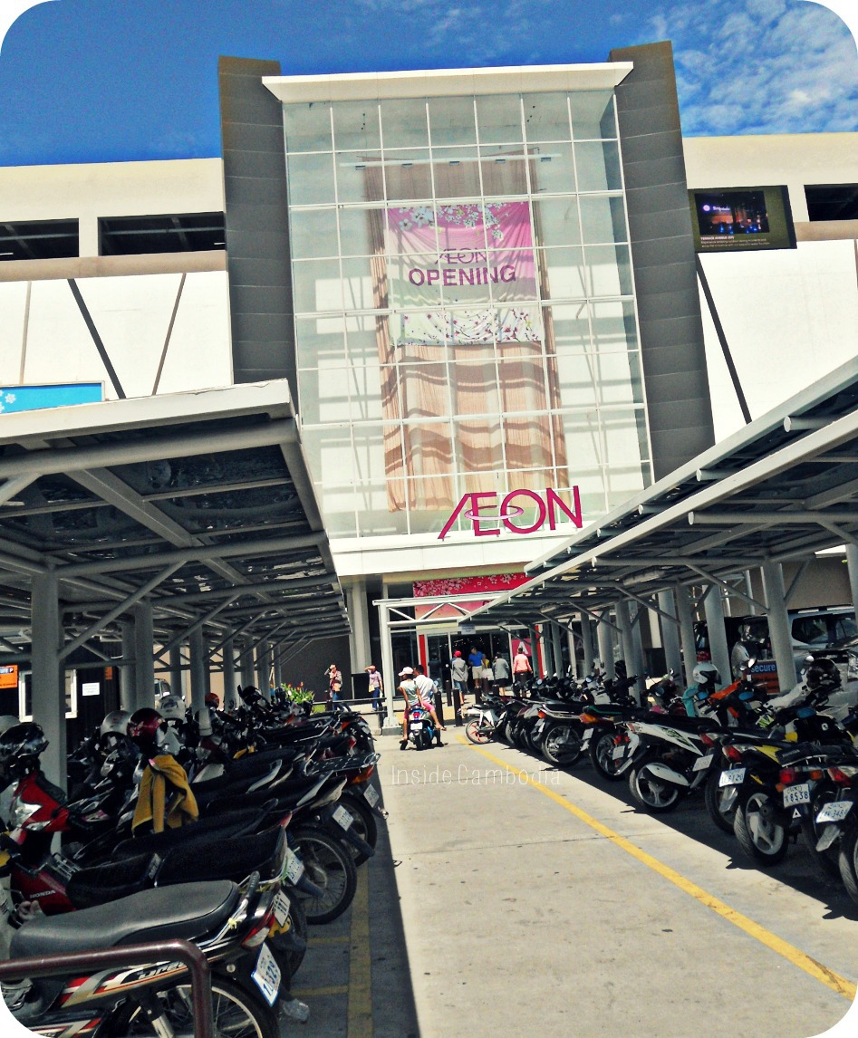 AEON Mall, the newest mall in Phnom Penh, as seen from the parking lot.