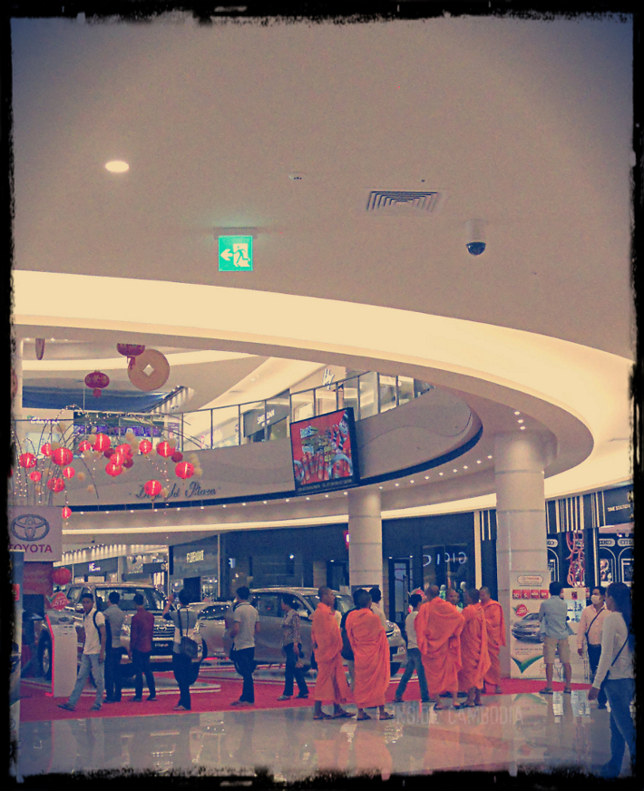 Monks' day out.  Seen them at Aeon Mall last week.