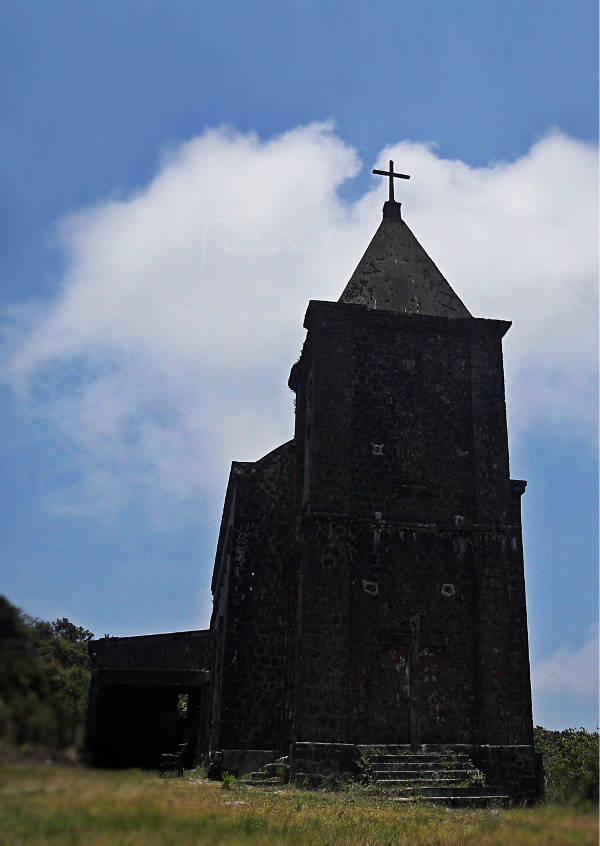 Old church built by the French at Bokor Hill Station